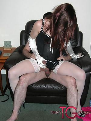 Kirsty & her CD sluts sucking on hard cock